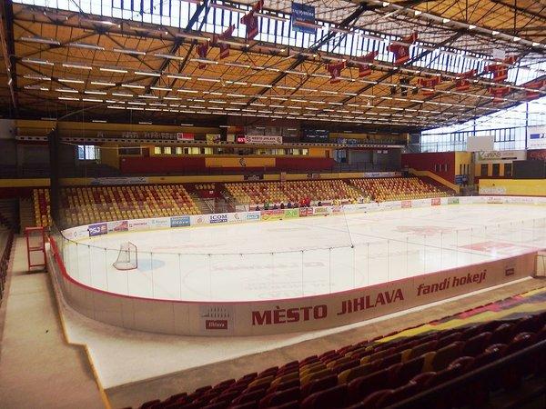 Ledová plocha zimního stadionu v Jihlavě