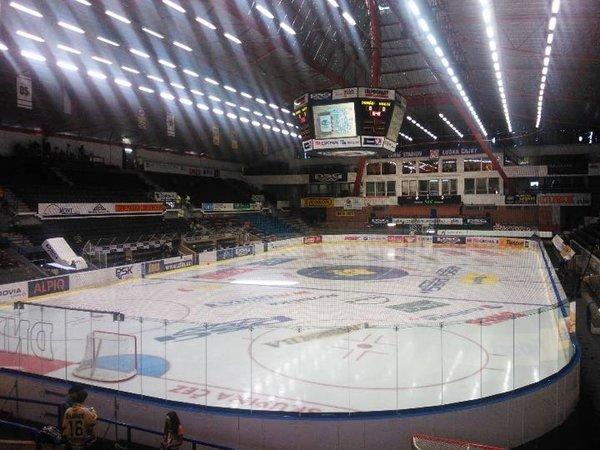 Plocha zimního stadionu Luďka Čajky