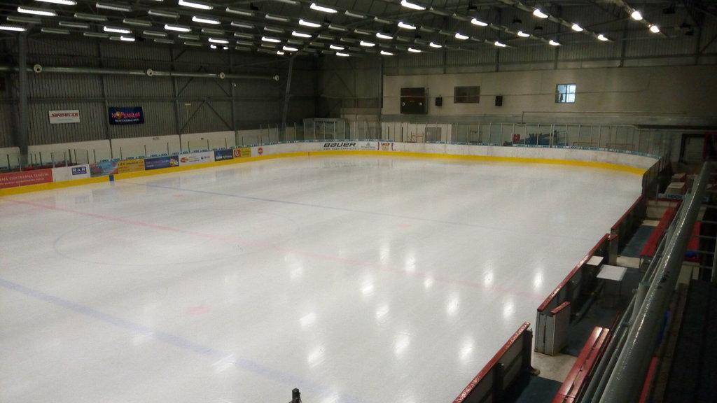 Ledová plocha Budvar arény v Českých Budějovicích