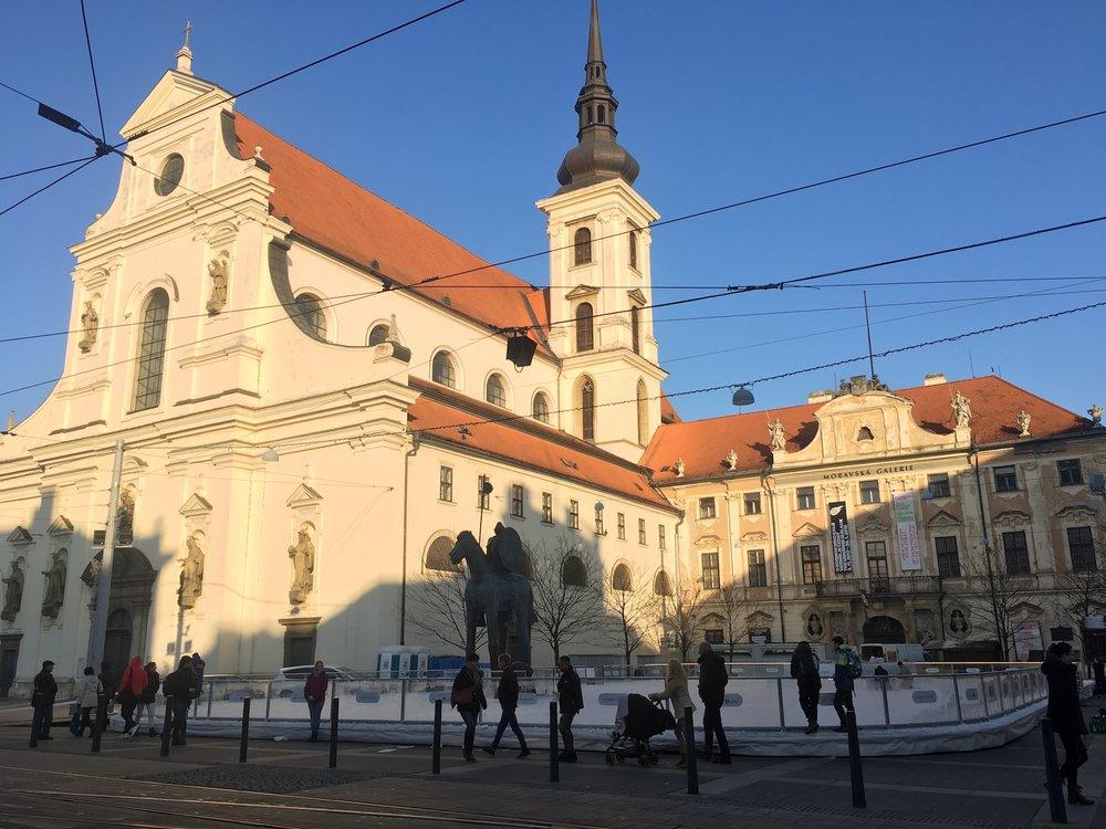 Bruslák na Moravském náměstí