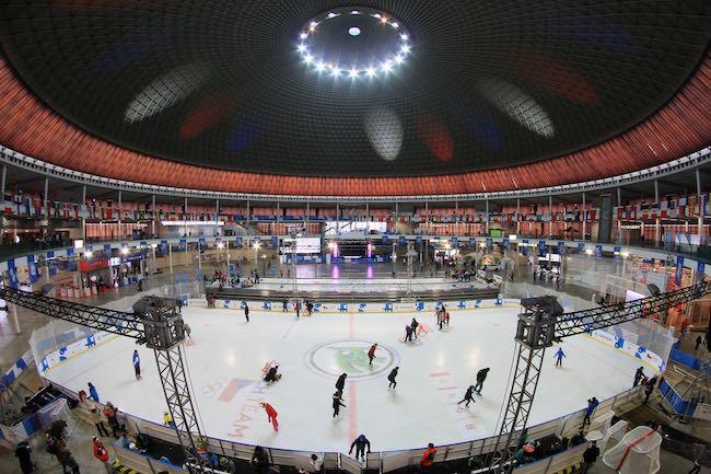 Umělá ledová plocha na výstavišti v pavilonu Z v Brně
